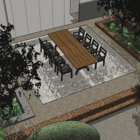 Ontwerp voor terras in achtertuin Enschede